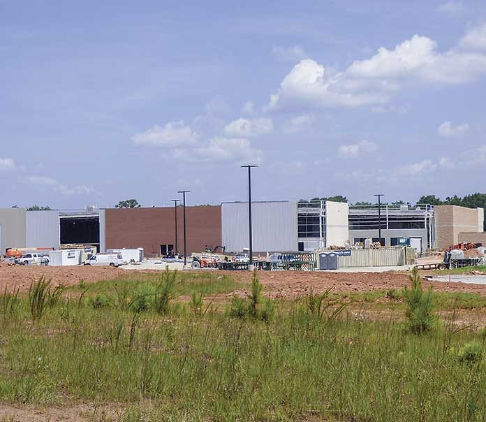 Construction of the new 157,000 sq. ft. Costco warehouse club store at Fischer Crossings at Ga. highways 34 and 54 in east Coweta County is underway. The store is expected in open in August. Photo/Ben Nelms.