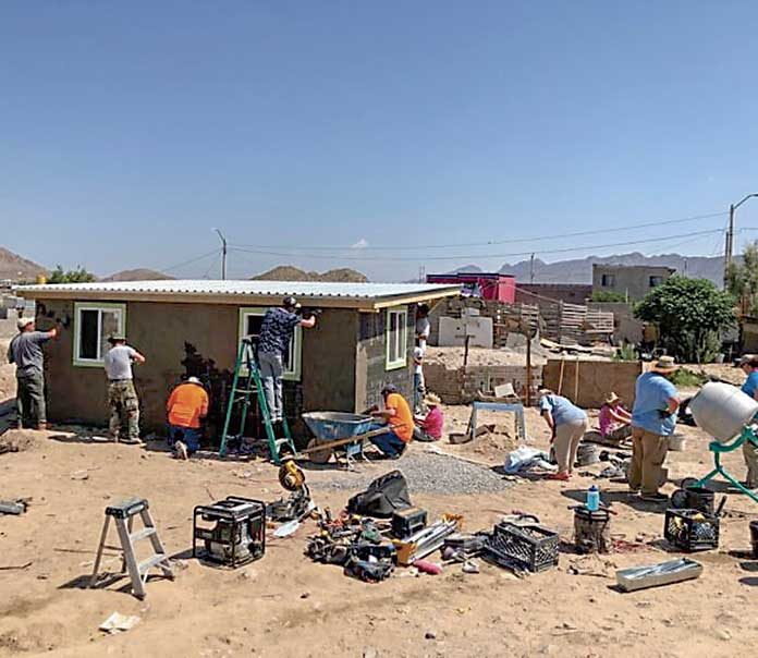 A group of 26 people representing Rolling Hills Baptist Church traveled to Juárez, Mexico, in June to build a needed home for a grandmother and her family. Photo/Submitted.