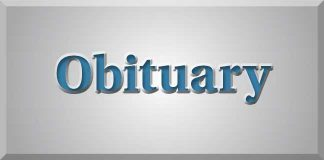 obituary header blue gray