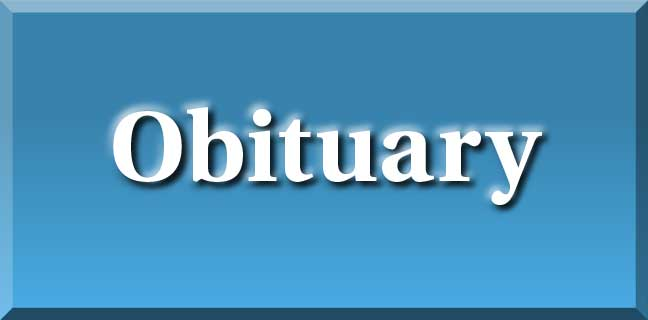 obituary header blue