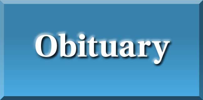obituary header blue