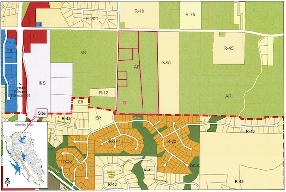 Map of proposed area to be annexed. Photo/Peachtree City Planning Dept.