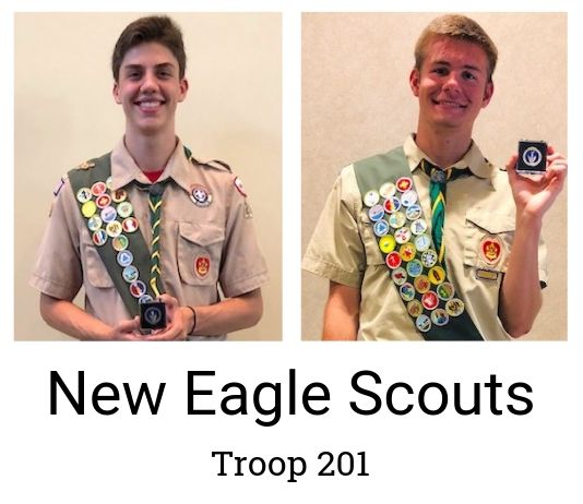 New Eagle Scouts Jack Tucker (L) and Andrew Williams. Photo/Submitted.