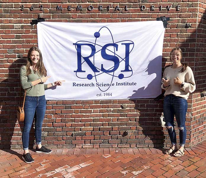 McIntosh High School students Caitlin vanZyl (left) and Jacqueline vanZyl were among 82 top achieving high school and international scholarships attending the 36th annual Research Science Institute this summer. Photo/Submitted.