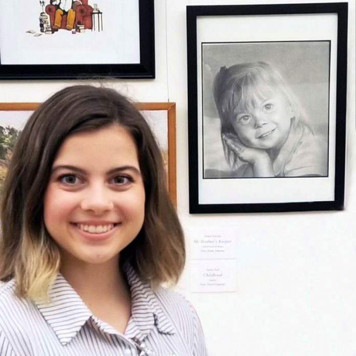 Jessie Hart won the Artistic Discovery Competition, a nation-wide high school art competition. Photo/Fayette County School System.