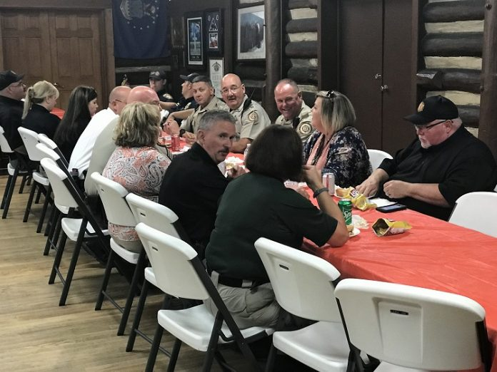 First responders were honored on Sept. 11 when Brightmoor Hospice treated them to lunch at the American Legion Post 105 Log Cabin in Fayetteville. Photo/Ben Nelms.
