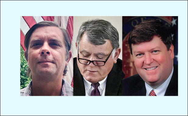 Peachtree City Post 2 candidates (L-R) Darryl Csicsila, Mike King and Steven Newton. Photos/Submitted.