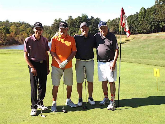 Low Net Winning Team of the 2019 tournament included Bob Schnelle, Guy Millette, Ryan Huber and Gene Walker. Photo/Submitted.