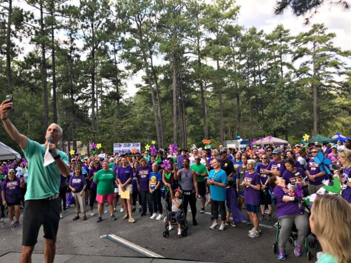 More than 800 residents from Peachtree City and surrounding areas joined the Alzheimer's Association Walk to End Alzheimer's in the fight to end Alzheimer's disease Saturday, October 6, at Fredrick Brown, Jr. Amphitheater in Peachtree City.