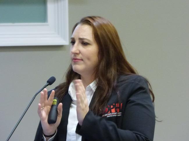 Ashton Harris tells commissioners about vaping dangers. Photo/Ben Nelms.