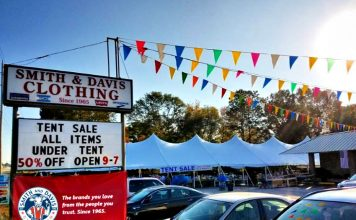 Smith and Davis' semi-annual tent sale has been an iconic event in Fayette County for more than 20 years.