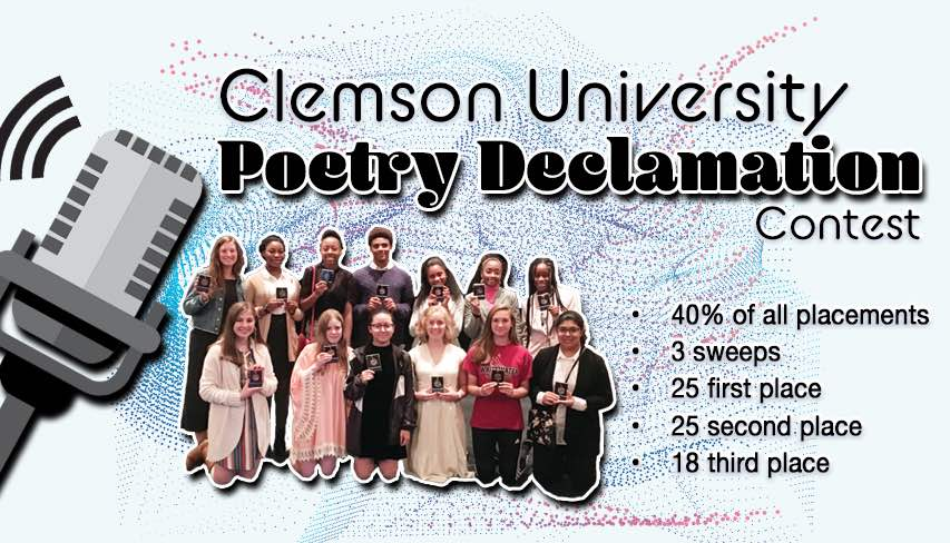 Fayette poetry students show off their awards from Clemson University Poetry Contest. Photo/Fayette County School System.