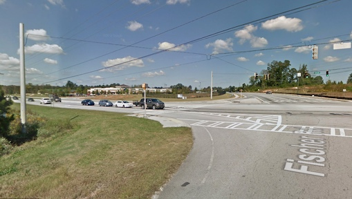 Looking north toward Sam's Club from intersection of Ga. Highway 34 and Fischer Road.