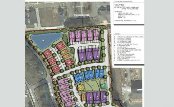 Map shows proposed rental cottage proposal in downtown Fayetteville. Graphic/City of Fayetteville.