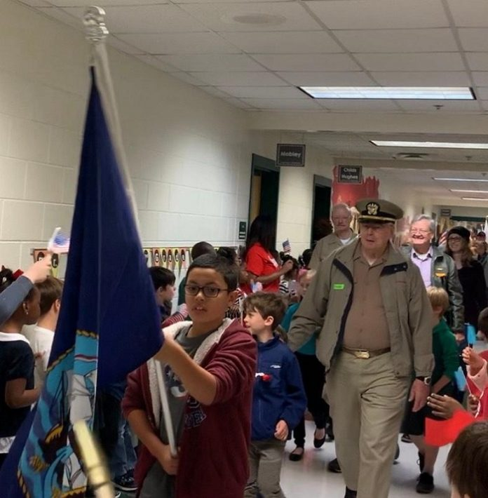 Veterans were honored on Nov. 8 by the students at Inman Elementary School. Photo/Submitted.