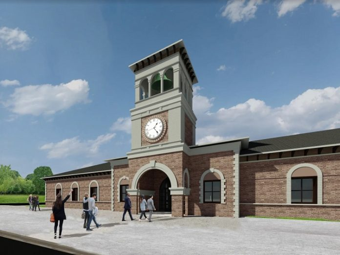 The new Tyrone Municipal Complex on Senoia Road is expected to open in late 2020. Rendering/Town of Tyrone.
