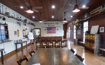 Is this a local museum? No, it's the meticulously restored, and very unique, Woolsey Town Hall and Community Center along Ga. Highway 92 South that could easily double as a museum of the town's history and often serves as the location for all kinds of public and private events. Photo/Ben Nelms.