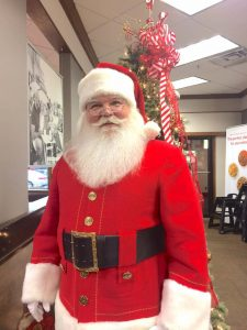The Real Deal Santa visits in Fayetteville. Photo/David Chancey.