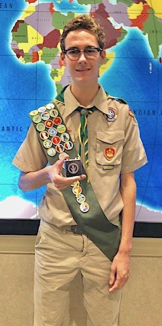 <b>New Eagle Scout Seth Williams.</b>