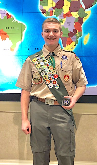 <b>Eagle Scout Gabe Rogers.</b>