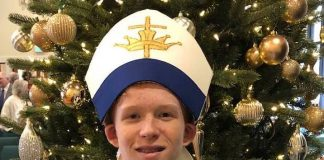 Aidan Northrop serves as 2019 Boy Bishop. Photo/Submitted.