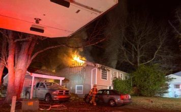 There were no injuries in a Nov. 29 house fire in Peachtree City that will likely result in a total loss. Photo/Peachtree City Fire Rescue.