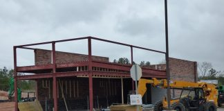 Construction of the Waffle House on Ga. Highway 74 South in Peachtree City is underway. Photo/Ben Nelms.