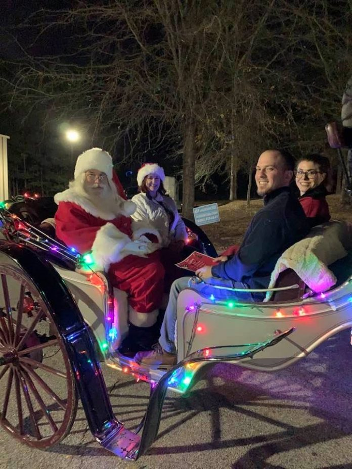 There's nothing like a buggy ride with Santa. That's what was found Dec. 1 at Shamrock Park as part of the annual Tyrone Tree Lighting and a visit with the kids from Santa. Photo/Submitted.