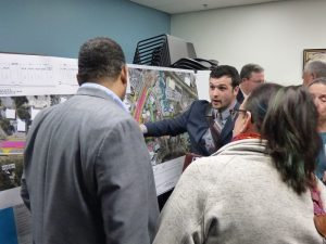 More than 140 people turned-out in the first hour of the Jan. 23 open house to see plans for the new intersection at Ga. highways 54 and 74, expected to begin construction in 2022 and open in late 2023 or early 2024. Photo/Ben Nelms.