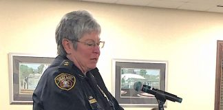 Peachtree City Police Chief Janet Moon speaks to the City Council Feb. 6 Photo/Cal Beverly.