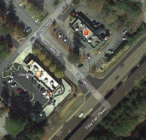 <b>A Google-map view of Dan Lakly Drive.</b>