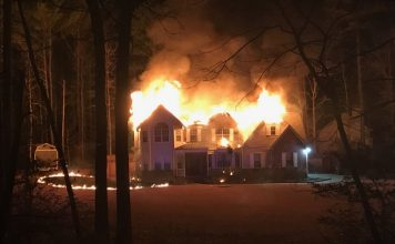 A fire on Feb. 3 at a home on Benz Court occurred when the occupants were away. There were no injuries to firefighters in the fire that resulted in the home being uninhabitable. Photo/Fayette County Fire.