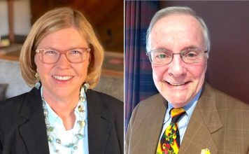 Republican School Board candidates (L) Martha Blanchard and Randy Hough. Photos/Submitted.