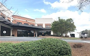 101 Yorktown Drive, Fayetteville is the location of Piedmont Health Care's drive-thru coronavirus test site. Photo/Ben Nelms.