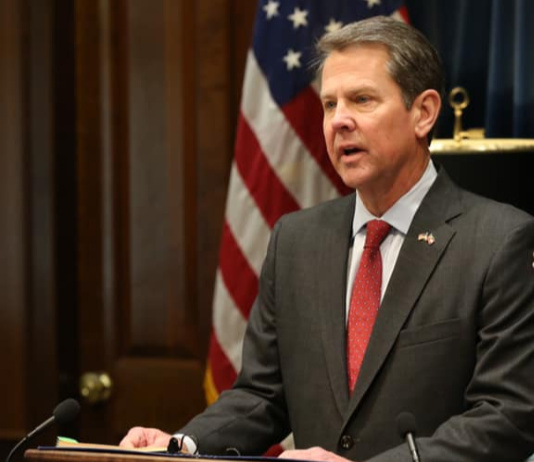 Georgia Governor Brian Kemp.