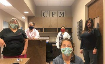 Local healthcare workers received some of the more than 300 masks made by Christina Allen. Photo/Submitted.