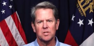 Gov.Brian Kemp addresses Georgians April 30.