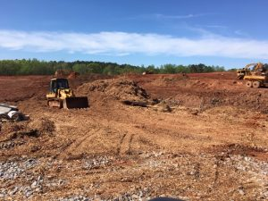 Pictured is the land preparation work for the new Booth Middle School off Carriage Lane in Peachtree City. Photo. Fayette County School System.