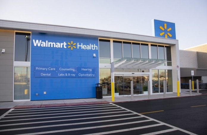 Similar to the facility in Calhoun (pictured above), the conceptual site plan for the Walmart Health center at the Fayette Pavilion in Fayetteville was approved April 28. Photo/Walmart.