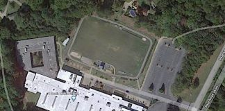 Google aerial view of J.C. Booth Middle School on Peachtree Parkway South in Peachtree City.