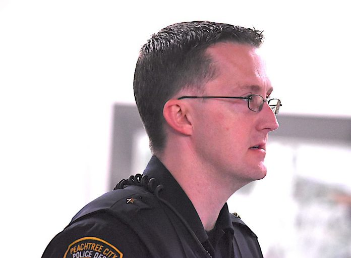 Matt Meyers, Peachtree City assistant police chief. Photo/Cal Beverly.