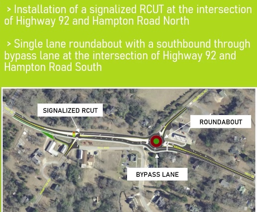 Depiction of the traffic improvements coming to Woolsey. Graphic/Fayette County.