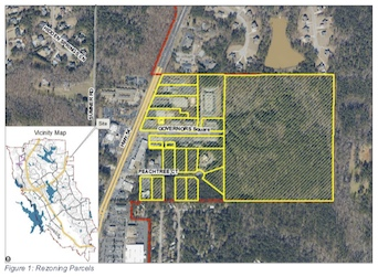 <b>A map overlay of the land annexed into Peachtree City a year ago. Graphic/Peachtree City.</b>