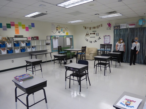<b>Fayette classrooms with desks will have them separated for social distancing. Photo/Ben Nelms.</b>