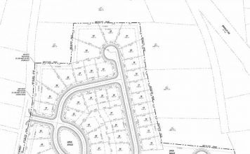 Map of the Dixon Farm subdivision, adjacent to the Summit Point residential and retail area. Graphic/City of Fayetteville.