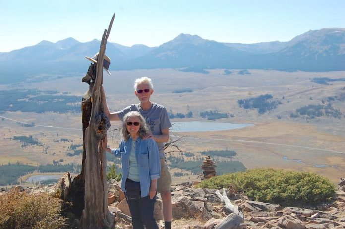 Allen Hamm and his wife, Joyce, found a scenic high point during their trip out West. Photo/Submitted.