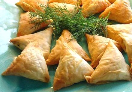 <b>Tiropita (cheese triangles)</b>