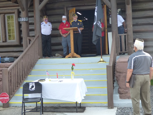 A group of veterans from around Fayette County met Sept. 18 at the American Legion Log Cabin in Fayetteville for the annual POW/MIA Recognition Day, in the hope that people of this nation will