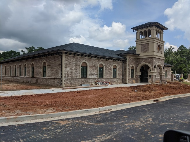 The New Tyrone Municipal Complex on Senoia Road across from Shamrock Park is nearing completion. Photo/Town of Tyrone.