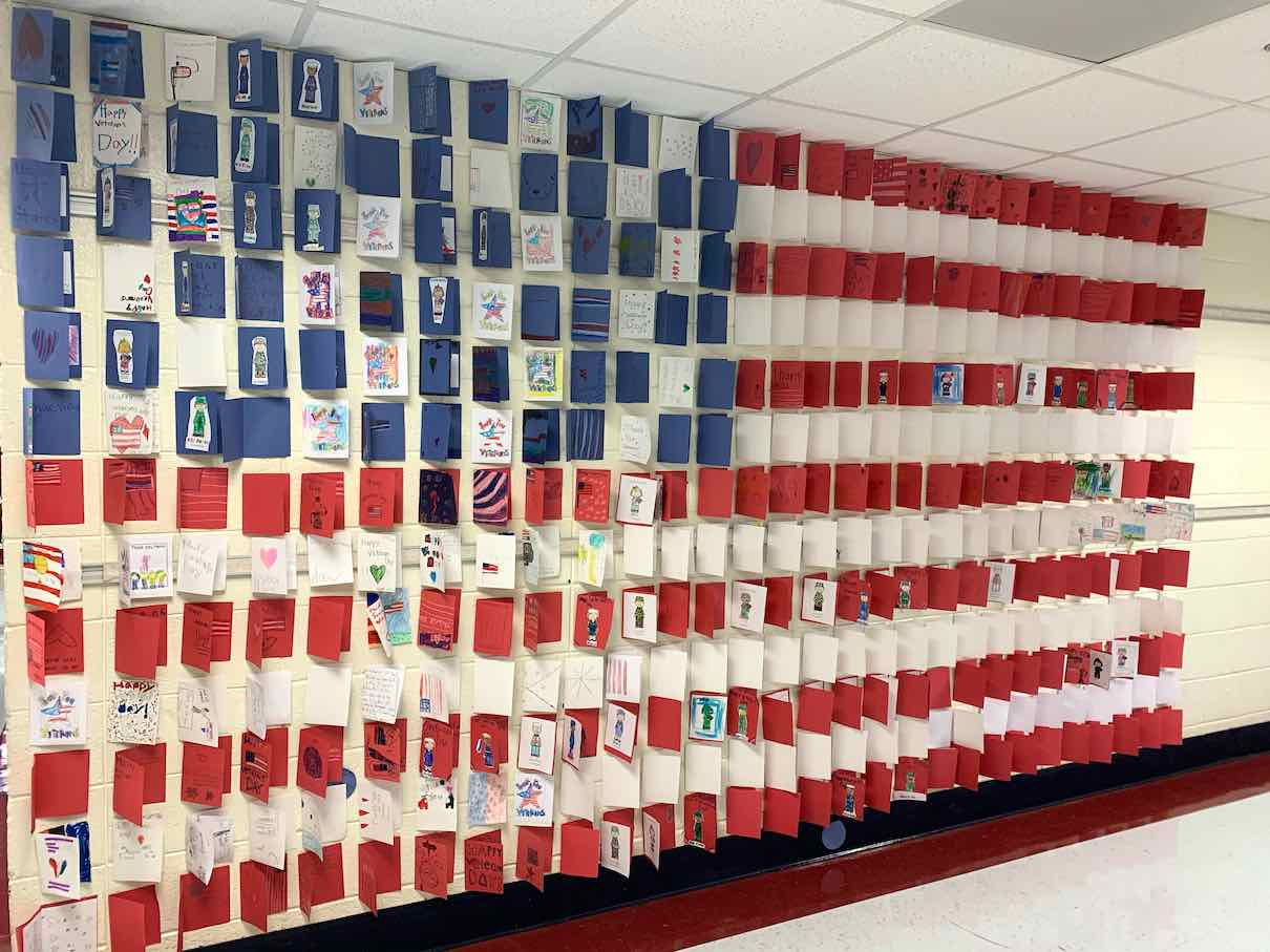 <b>North Fayette's hand-made American flag display. Photo/Fayette County School System.</b>